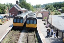 Crediton Station © Copyright Roger Geach